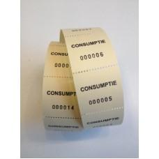 Consumptiebonnen op rol geel 500/rolTd35990023